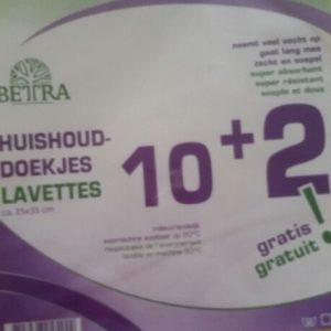 Betra huishouddoekjes 10+2 gratis