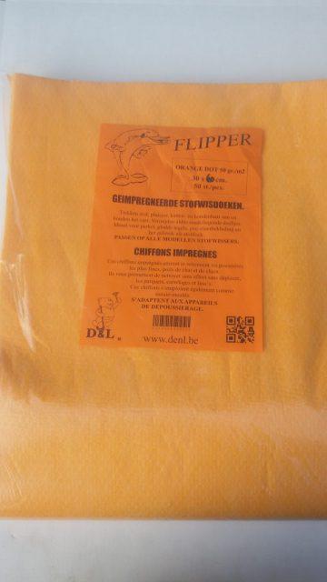 Flipper orange dot 50 gr 30x42cm 50 stuks
